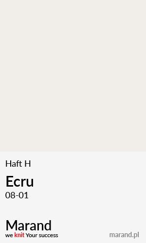 Haft H – kolor Ecru 08-01