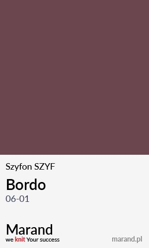 Szyfon SZYF – kolor Bordo 06-01