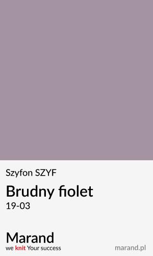 Szyfon SZYF – kolor Brudny fiolet 19-03
