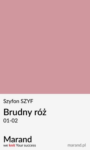 Szyfon SZYF – kolor Brudny róż 01-02