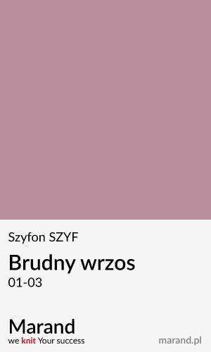 Szyfon SZYF – kolor Brudny wrzos 01-03
