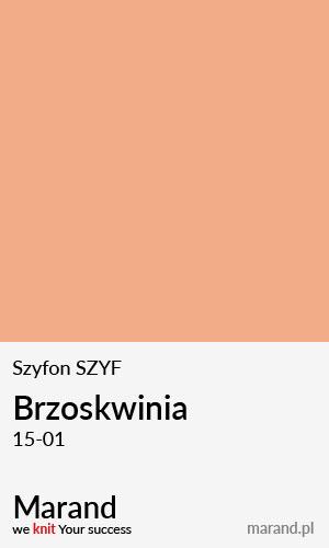 Szyfon SZYF – kolor Brzoskwinia 15-01