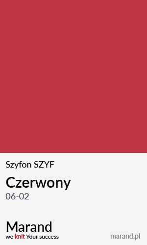 Szyfon SZYF – kolor Czerwony 06-02