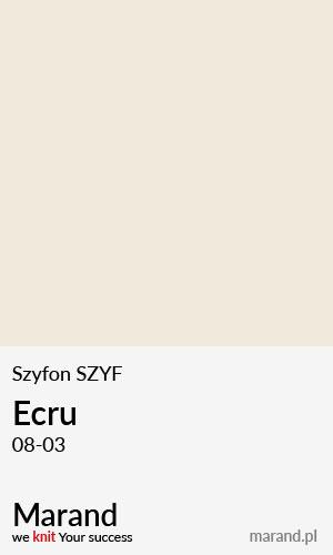 Szyfon SZYF – kolor Ecru 08-03