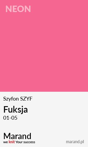 Szyfon SZYF – kolor Fuksja 01-05