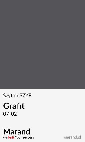 Szyfon SZYF – kolor Grafit 07-02