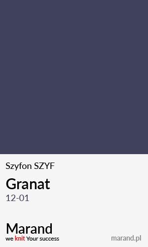 Szyfon SZYF – kolor Granat 12-01