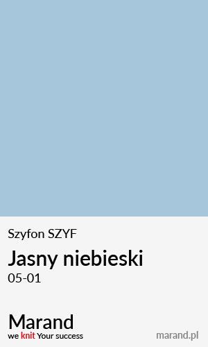 Szyfon SZYF – kolor Jasny niebieski 05-01