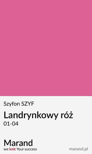 Szyfon SZYF – kolor Landrynkowy róż  01-04
