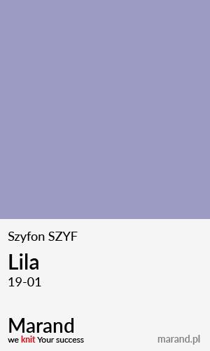 Szyfon SZYF – kolor Lila 19-01