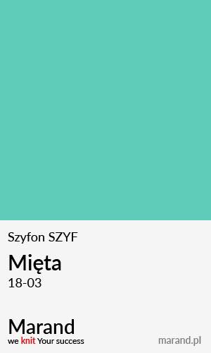 Szyfon SZYF – kolor Mięta 18-03