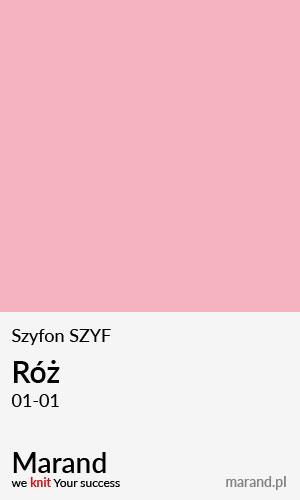 Szyfon SZYF – kolor Róż 01-01