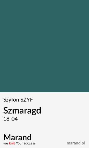 Szyfon SZYF – kolor Szmaragd 18-04