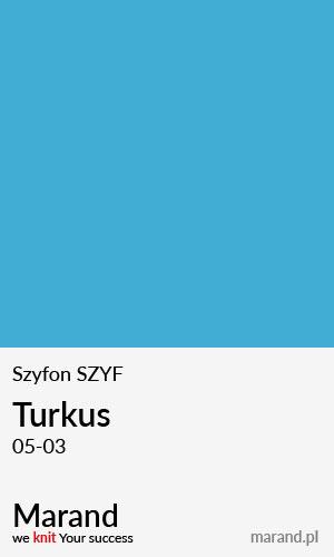 Szyfon SZYF – kolor Turkus 05-03