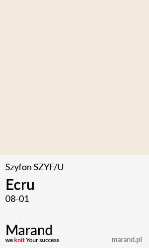 Szyfon SZYF/U – kolor Ecru 08-01