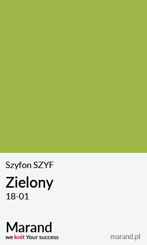 Szyfon SZYF – kolor Zielony 18-01