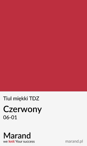 Tiul miękki TDZ – kolor Czerwony 06-01