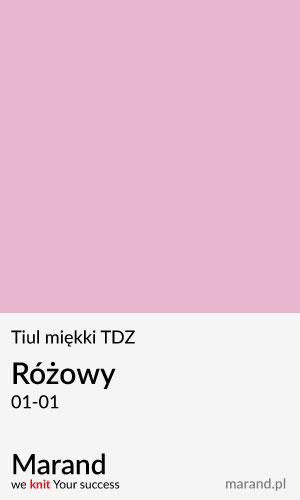 Tiul miękki TDZ – kolor Różowy 01-01