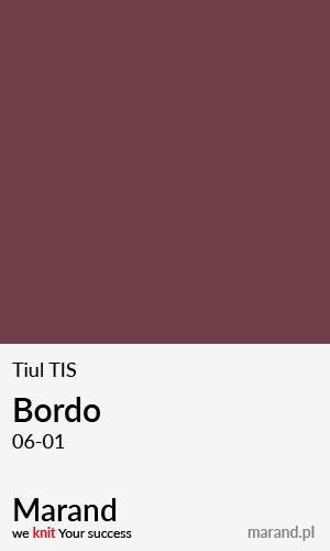 Tiul TIS – kolor Bordo 06-01
