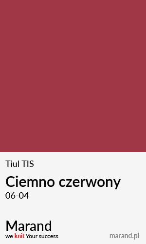 Tiul TIS – kolor Ciemno czerwony 06-04