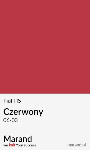 Tiul TIS – kolor Czerwony 06-03