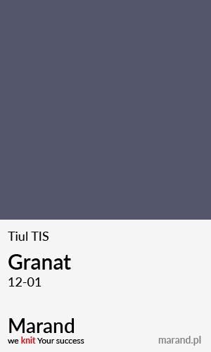 Tiul TIS – kolor Granat 12-01