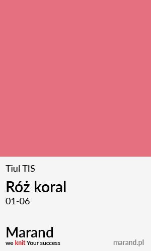 Tiul TIS – kolor Róż koral 01-06