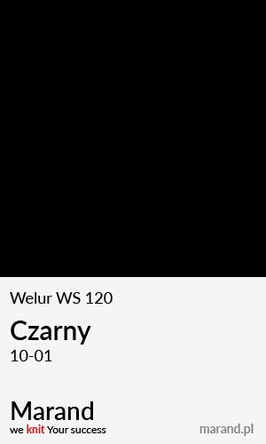 Welur WS 120 – kolor Czarny 10-01