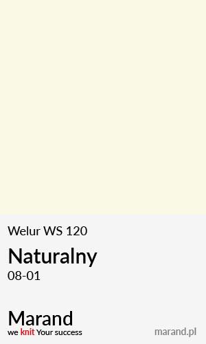 Welur WS 120 – kolor Natualny 08-01
