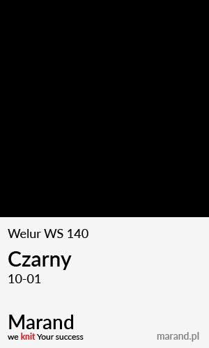 Welur WS 140 – kolor Czarny 10-01