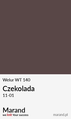 Welur WT 140 – kolor Czekolada 11-01