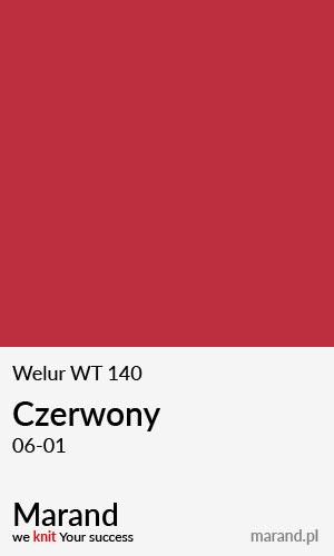 Welur WT 140 – kolor Czerwony 06-01