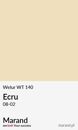 Welur WT 140 – kolor Ecru 08-02