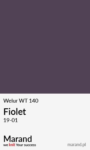 Welur WT 140 – kolor Fiolet 19-01