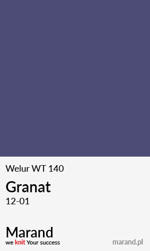 Welur WT 140 – kolor Granat 12-01