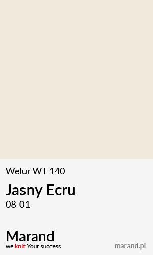 Welur WT 140 – kolor Jasny Ecru 08-01