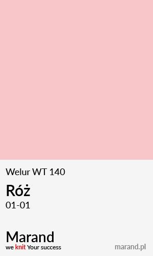 Welur WT 140 – kolor Róż 01-01