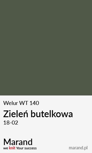 Welur WT 140 – kolor Zieleń butelkowa 18-02