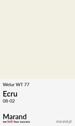 Welur WT 77 – kolor Ecru 08-02