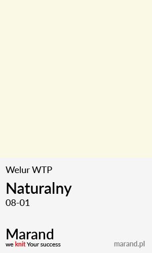 Welur WTP – kolor Naturalny 08-01