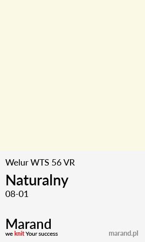 Welur WTS 56 VR – kolor Naturalny 08-01