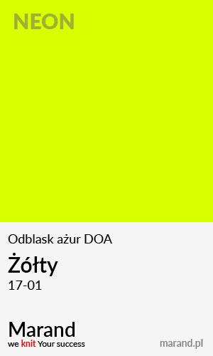 Odblask ażur DOA – kolor Żółty 17-01