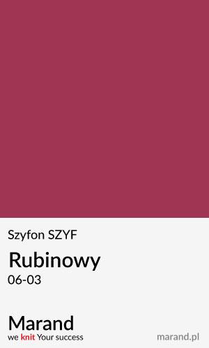 Szyfon SZYF – kolor Rubinowy 06-03
