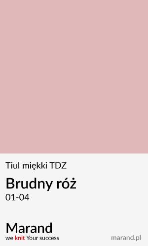 Tiul miękki TDZ – kolor Brudny róż 01-04