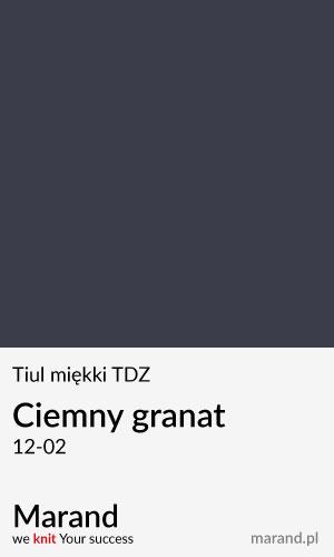 Tiul miękki TDZ – kolor Ciemny granat 12-02