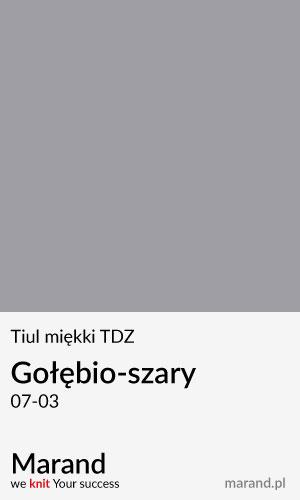 Tiul miękki TDZ – kolor Gołębio-szary 07-03
