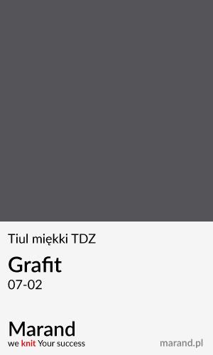 Tiul miękki TDZ – kolor Grafit 07-02