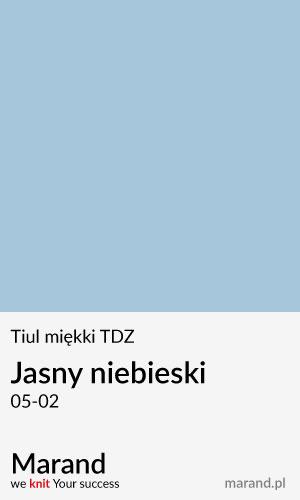 Tiul miękki TDZ – kolor Jasny niebieski 05-02