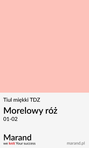 Tiul miękki TDZ – kolor Morelowy róż 01-02