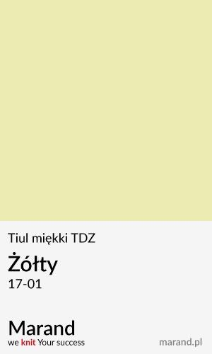 Tiul miękki TDZ – kolor Żółty 17-01